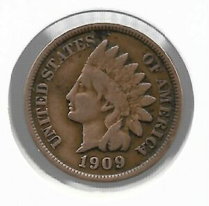 USA-Rare-Very-Old-Antique-1909-US-Indian-Head-Penny-Cent-Collection-Coin-Lot-i38
