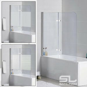 panel de porte paroi de baignoire douche pliante en verre salle de bain sanlingo ebay. Black Bedroom Furniture Sets. Home Design Ideas