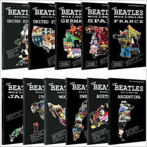 11-x-Book-Beatles-worldwide-UK-US-Germany-Japan-Spain-France-Italy-Sweden-Lot