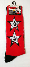 2 Pair Disney Mickey Mouse Face Stars New Socks French? Fits 6-12.5 foot