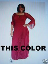 NEW!  Zaftique GRAND BALLROOM Dress GARNET Red 1Z / 16 18 / XL 1X