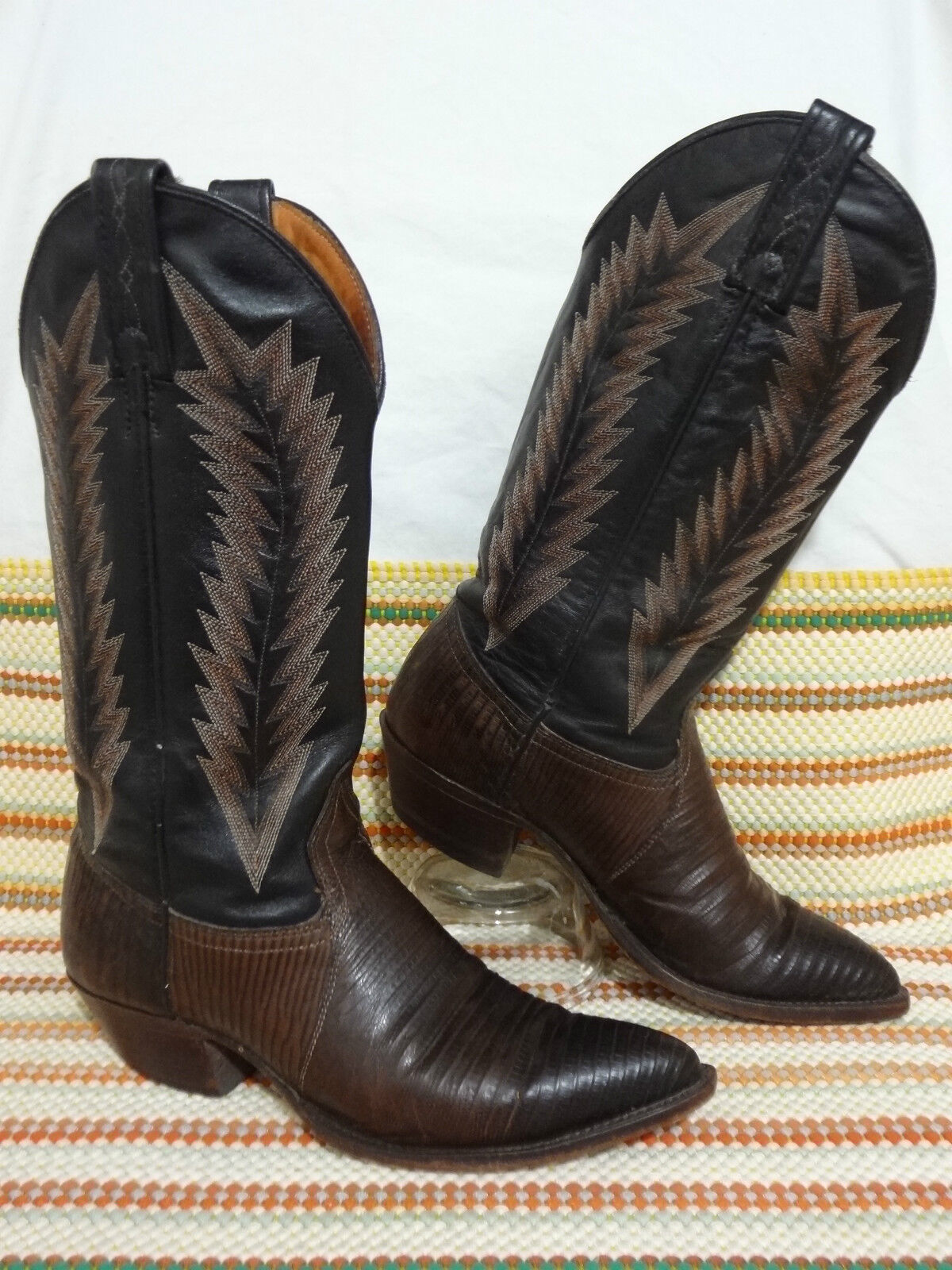 J CHISHOLM WOMEN Stiefel SZ 6 WESTERN M  BROWN  WESTERN 6 LEATHER GENUINE LIZARD EXOTIC 925cf9