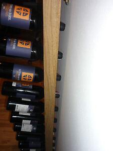 Champagner-Ruettelbrett-fuer-10-Flaschen-inkl-Wandhalter-edle-Praegung-Lasur