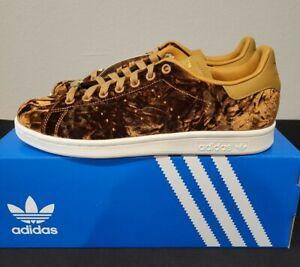 adidas Originals Stan Smith Crushed Velvet Brown Velour Size 9 | eBay
