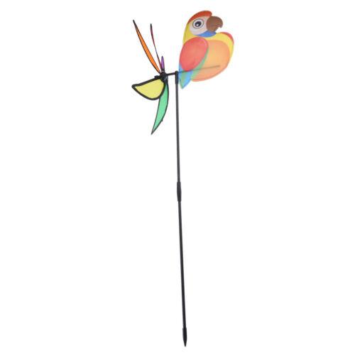 3D Cute Large Bird Parrot Windmill Wind Spinner Whirligig Yard Garden Decor