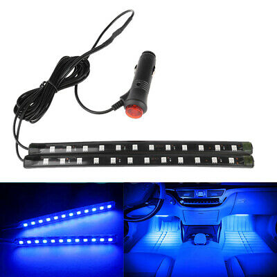 Car Interior Footwell Floor Decor Atmosphere Light LED Blue//Red Neon Strips