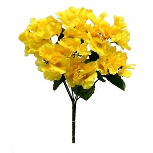 72 Hydrangea Flowers YELLOW Silk Wedding Bouquet Centerpieces Flowers