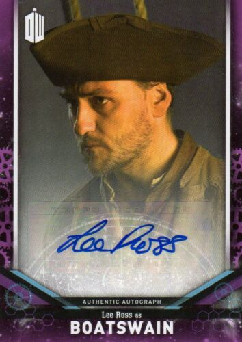 Doctor Who Topps Série Signature 2018 4 Purple: Michelle Gomez, Adrian Scarbo