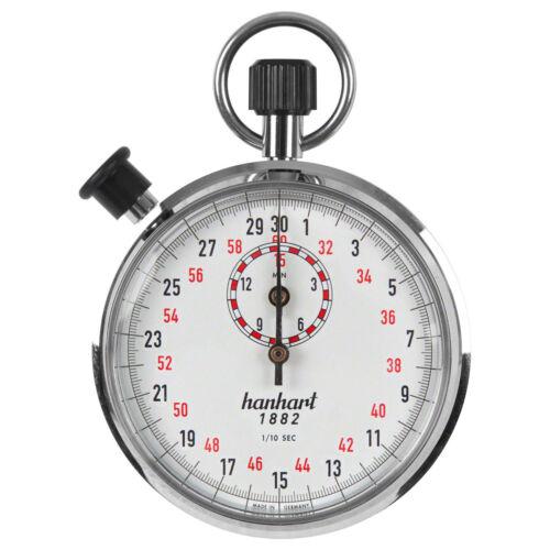 Einteilung ORIGINAL Hanhart Additionsstopper Stoppuhr Stopuhr Stop Uhr 1//10 Sek