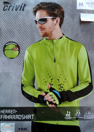 Herren Fahrradshirt Langarm M L Radshirt Fahrrad Shirt Radtrikot Trikot  NEU