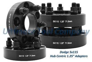 4pc Black Hub Centric 1 25 Dodge Chrysler 300 Adapter 5x115 Bolt