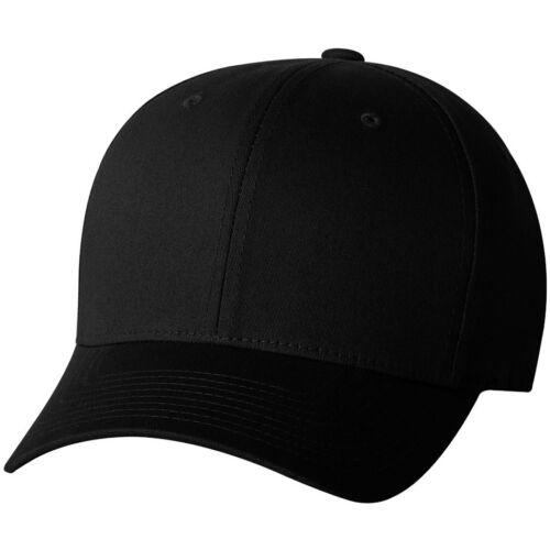 ss V-Flexfit Cotton Twill Baseball Cap Fitted Flex Fit  Plain Blank Hat 5001