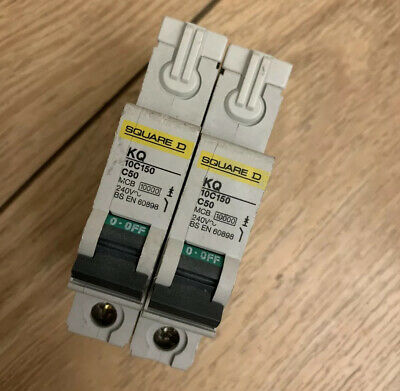 SQUARE D 50 AMP TYPE C 10 kA MCB CIRCUIT BREAKER KQ 10C150