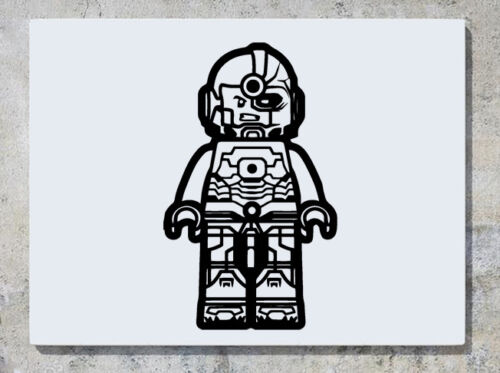 Lego Cyborg Justice League DC Comic Hero Mur Autocollant Art Autocollant Photo