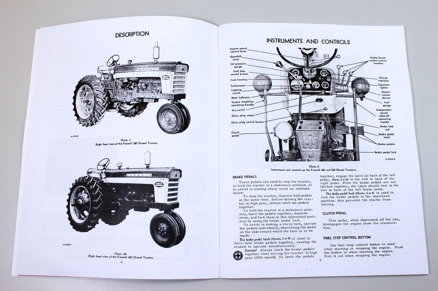 Farmall Diesel 460 560 Tractor Operators Owners Manual International Wiring Diagram Norton Secured Powered By Verisign