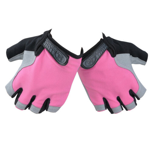 Unisex Fingerless Cycling Gloves Gel Padded Bicycle MTB Bike Riding Gym Fitness
