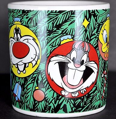 Bugs Tweety Taz Christmas Coffee Mug Tea Cup Ornaments Looney Tunes Applause '97