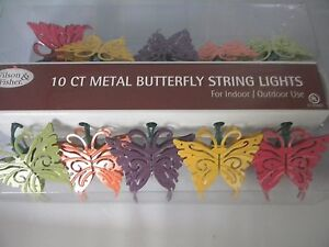Image Is Loading Butterfly Patio String Lights 10 Ct Metal Indoor