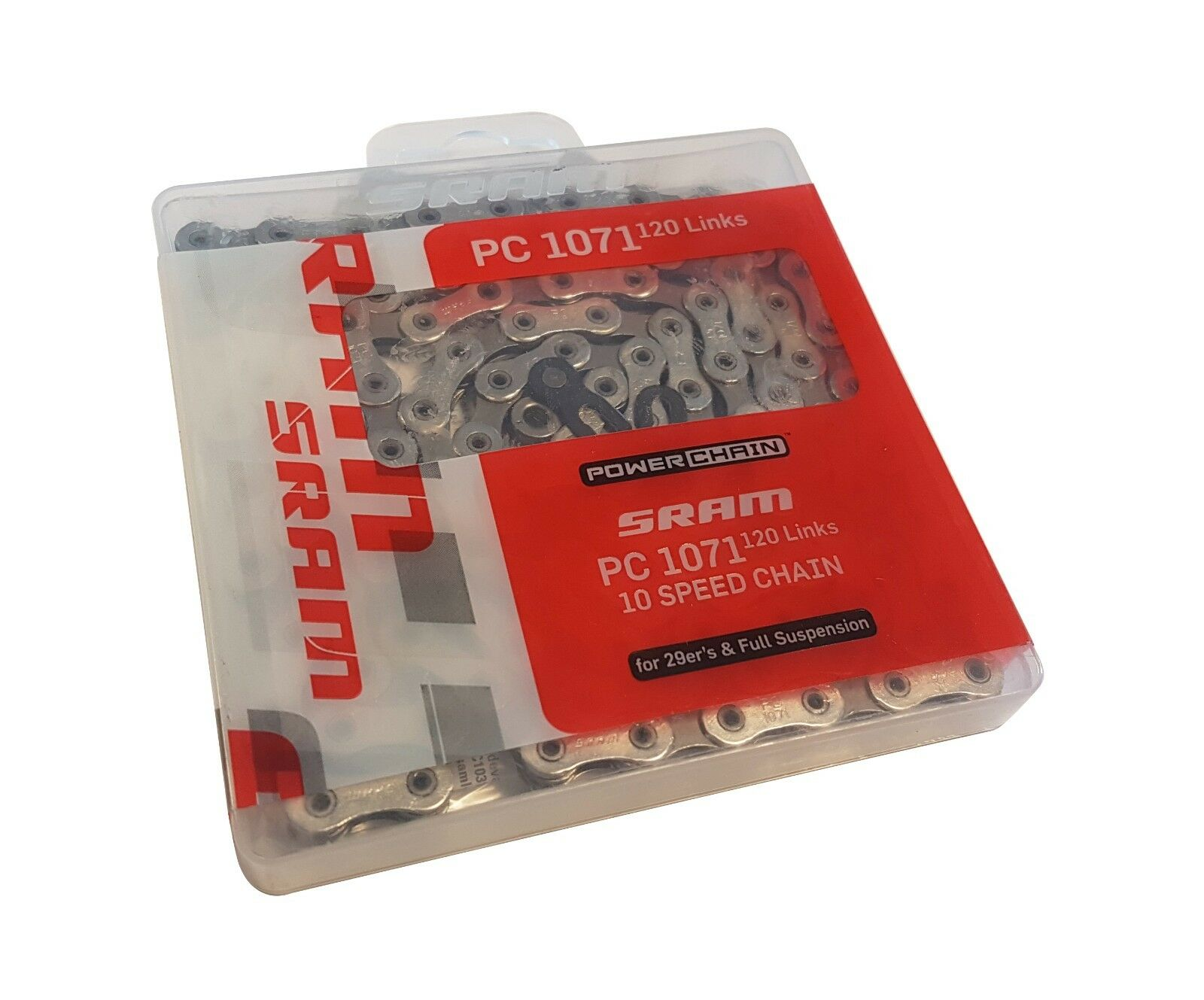 SRAM PC 1071 10-SPEED CHAIN HOLLOWPIN RIVET 120 LINKS FOR 29er / SUSPENSION BIKE