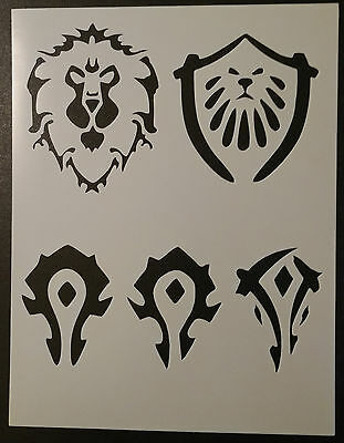 Reusable Mylar Airbrush Tattoo Stencil warcraft gaming gamer