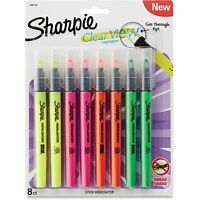 Sharpie Clearview Pen-style Highlighter Fine Chisel Tip Assorted Ink 8/pack on sale