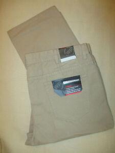 NWT-Mens-Weatherproof-Vintage-5-Pocket-Rugged-Canvas-Pants-Khaki-40X32