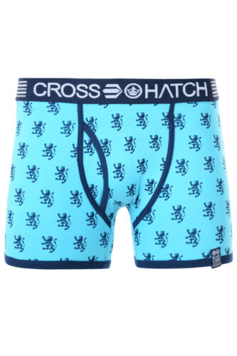 Crosshatch Mens Boxer Shorts Underwear Cotton Stretchy Sporty Trunks Print Plain