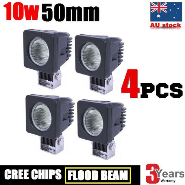 4x 10W CREE LED WORK LIGHT OFFROAD DRIVING FLOOD LIGHT BAR AUTO CAR SUV LAMP 40W