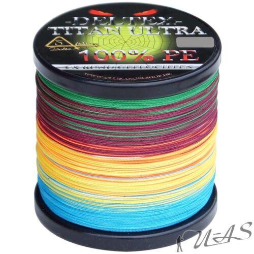 DELTEX Titan Ultra Multicolor 0.15mm 9.10kg 500M Rund Geflochtene Angelschnur