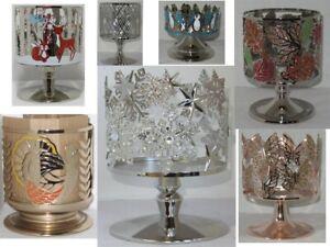Bath-amp-Body-Works-3-Wick-14-5-oz-Pedestal-Candle-Sleeve-Holder-gold-silver-upick