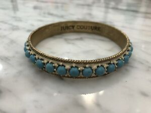 Juicy-Couture-Turquoise-Studded-Bangle-Bracelet
