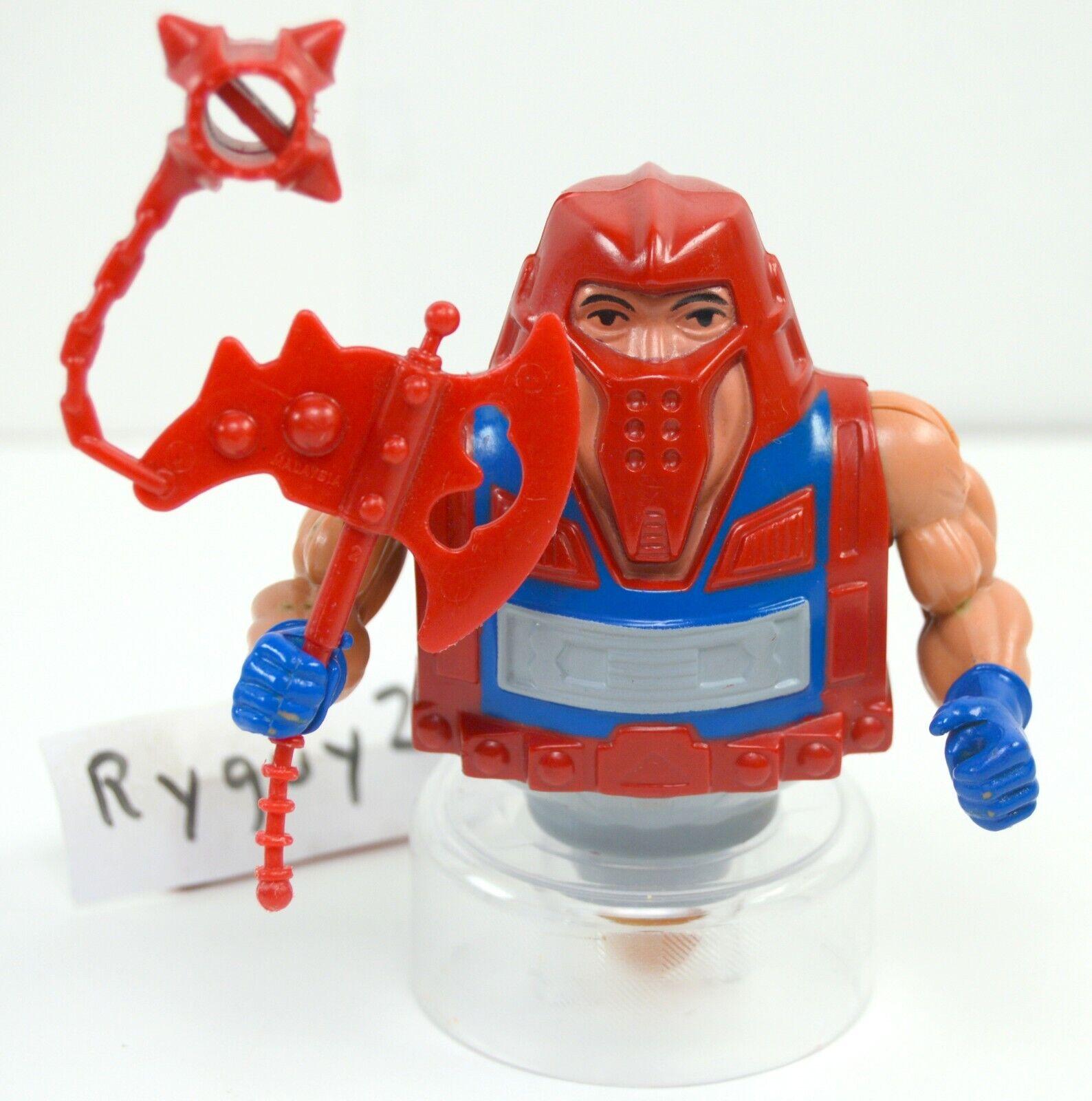 MOTU, rödar, Universums härskare, figur He-Man, årgång, yxa, vapen
