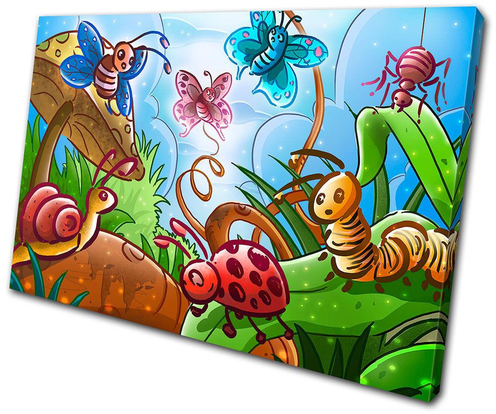For Kids Room Garden Animals SINGLE TELA parete arte foto stampa