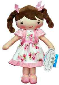 30 Cm Belle Poupée De Chiffon En Fleuri Robe Rose Soft Plush Toy * Brand New *-afficher Le Titre D'origine