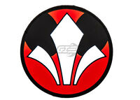 Airsoft Gi Rebel Logo Pvc Patch (black/white/red) 20375