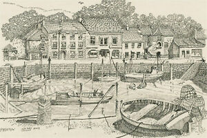 N.K. Day - 2003 Pen and Ink Drawing, Padstow
