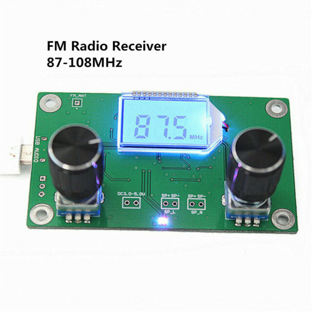 Dsp /& Pll LCD Digital Stereo Fm Radio Empfänger Modul W//Serial Control S40
