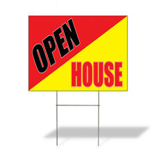 Weatherproof Yard Sign Open House Outdoor Advertising Printing A Red Lawn Garden