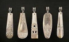 Mixed Lot of 5 Silver Plate Silverware Necklace Pendants-Bridesmaids/Friends/Sis