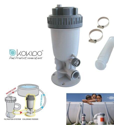 Dosatore automatico di cloro a pasticche esterno per piscina Kokido KlorIn