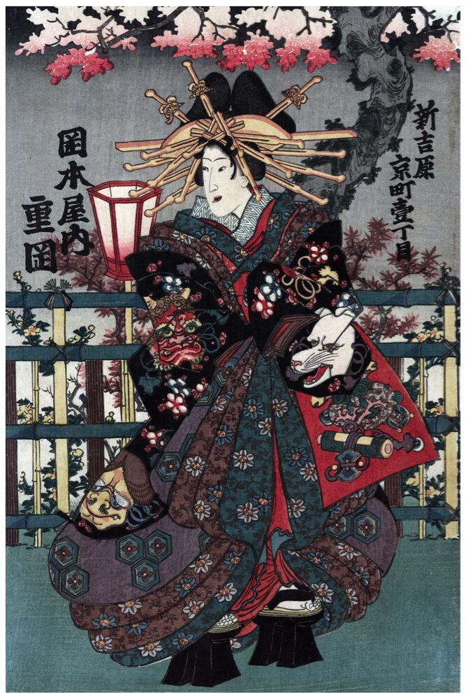 2468.Japanese Fashion.Asian design vintage POSTER.Oriental Decor Art.Japan