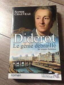 DIDEROT-le-genie-debraille-les-annees-boheme-de-sophie-chauveau-312-pages-TBE