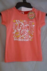 "Tops & T-shirts Farm Girl ""knee Deep & Lovin It"" T Shirt Babies/toddlers/infants 2t-4t Nwt"