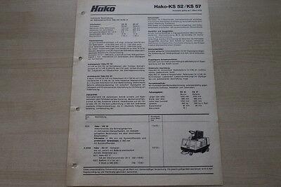 Preise & Extras Prospekt 03/1978 Hako Ks 52 57 163406