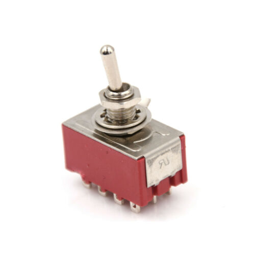 2A250VAC 5A125VAC 12 Pin 4PDT ON//ON 2 Position Mini Toggle Switch MTS-402 lq