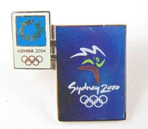 Athens Olympic Games 2004 Pin Badge Official Poster Pin Sydney Australia 2000