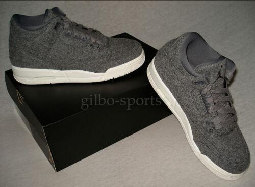 Jordan 40 Nouveau 36 Retro 3 Gr 37 004 Bg Foncé Laine Gris Air 38 Rare 861427 Nike 7C5OWHq45