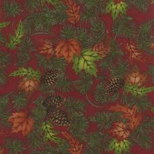 Turning Leaves By Holly Taylor For Moda - Magenta Large Leaves