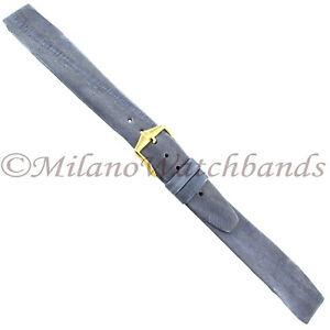 16mm-Hirsch-EEL-Gray-Textured-Flat-Unstitched-Open-Ended-Mens-Watch-Band-Regular