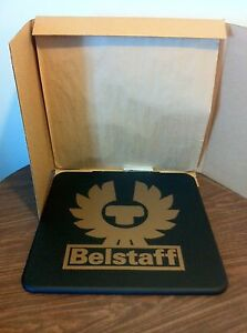 chasquido Padre fage Violar  Belstaff signo Mesa de café Anuncio Publicidad Logotipo Emblema Board | eBay